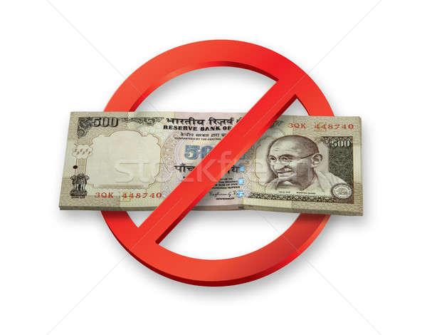 Indiai 500 valuta jegyzetek Stock fotó © Akhilesh
