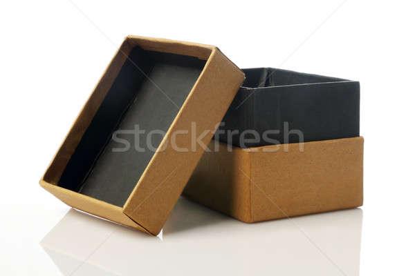 Stock fotó: Kartondoboz · vázlat · újrahasznosított · papír · házhozszállítás · csomag