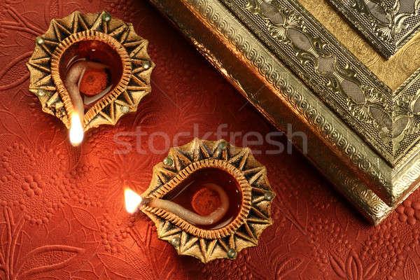 ディワリ ランプ インド 祭り ライト 火災 ストックフォト © Akhilesh
