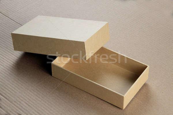 Geri dönüşüm boş kart tahta kutu kâğıt Stok fotoğraf © Akhilesh