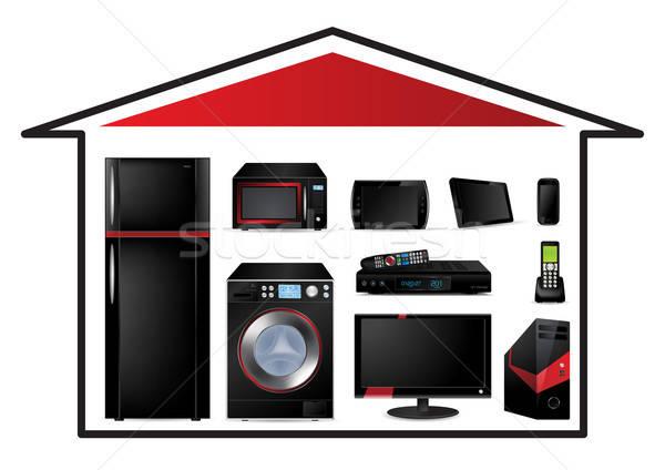 Home appliances concept - Vector Illustration Stock photo © Akhilesh