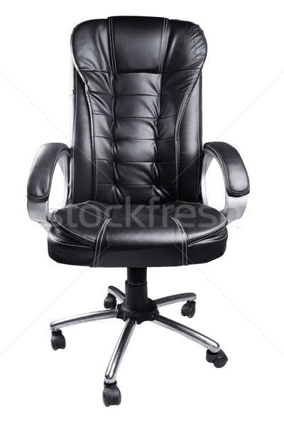 黒 革 事務椅子 孤立した 白 オフィス ストックフォト © Akhilesh
