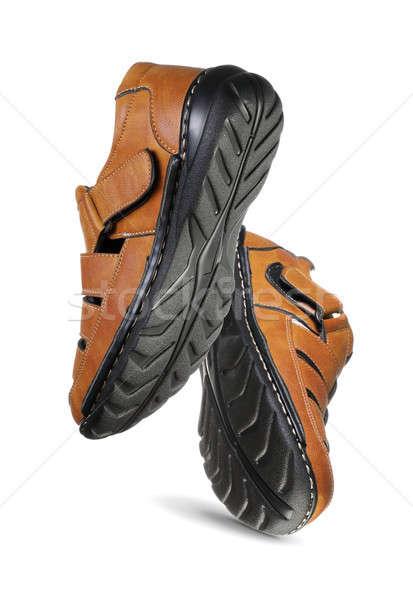 ペア 現代 靴 空気 孤立した 白 ストックフォト © Akhilesh