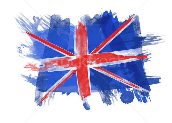 Bandiera nero texture blu pennello tela Foto d'archivio © Akhilesh