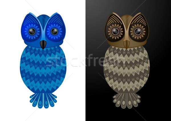 Owl - Vector Illustration Stock photo © Akhilesh