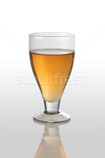 White Wine Glass on White Reflective Background Stock photo © Akhilesh