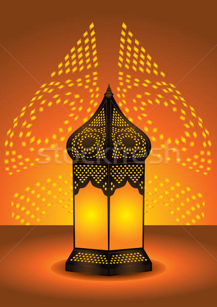 intricate arabic floor lamp Stock photo © Akhilesh