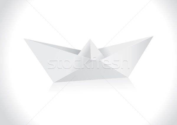 Origami papier bateau art Voyage navire Photo stock © Akhilesh