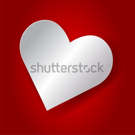 Abstract heart shape - vector illustration Stock photo © Akhilesh