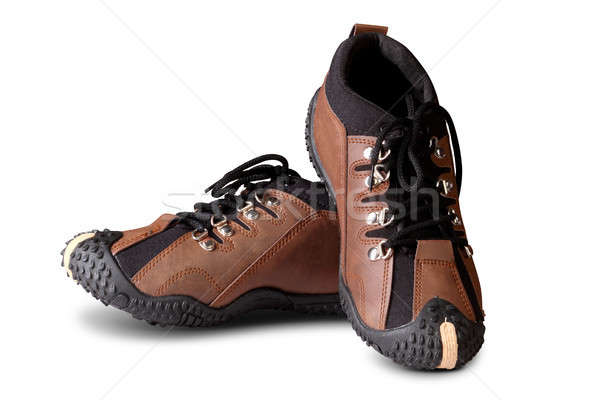 Lezser bőr cipők izolált fehér Stock fotó © Akhilesh