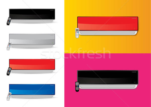 Split airconditioners ac with remote - vector illustrations Stock photo © Akhilesh