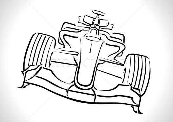 Formula 1 Racing Car Vector Illustration Stock photo © Akhilesh