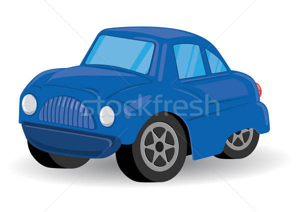 Blue Sports Utility Vehicle Car Cartoon - Vector Illustration Stock photo © Akhilesh