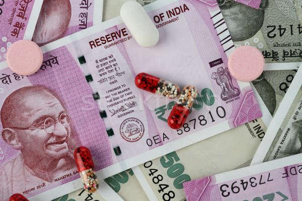 új indiai bank jegyzetek tabletták papír Stock fotó © Akhilesh