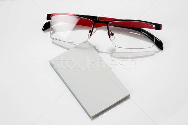 名刺 眼鏡 ビジネス デザイン 背景 ストックフォト © Akhilesh