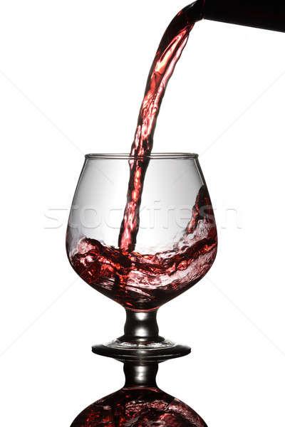 Vörösbor üveg üveg bor ital piros Stock fotó © Akhilesh