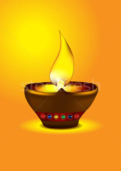 Diwali Diya - Oil lamp vector illustration Stock photo © Akhilesh