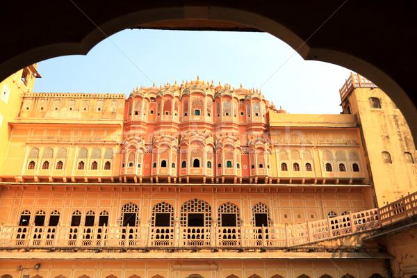 Vento palazzo India costruzione finestra Asia Foto d'archivio © Akhilesh
