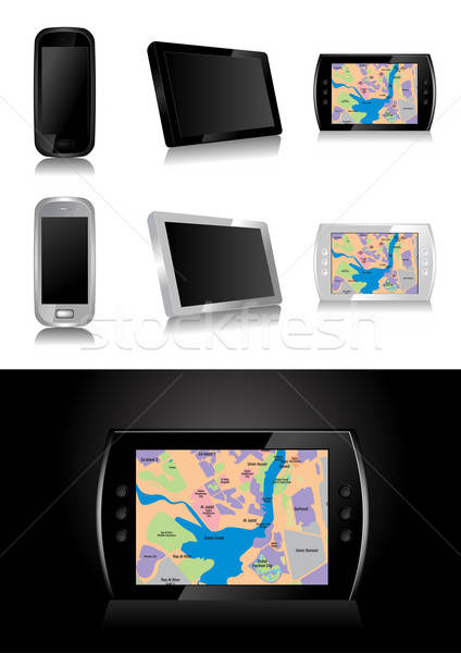 Gps dispositivo global estrada mapa móvel Foto stock © Akhilesh