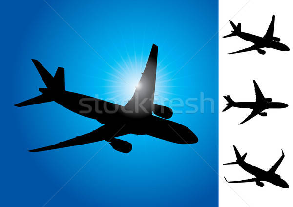 Three airplanes vector illustration Stock photo © Akhilesh
