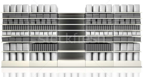 Supermarket Shelving With Generic Products Stock photo © albund