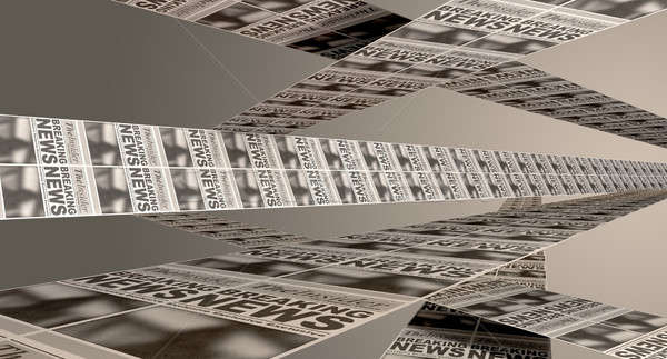 新聞 キーを押します 紙 抽象的な 表示 見出し ストックフォト © albund