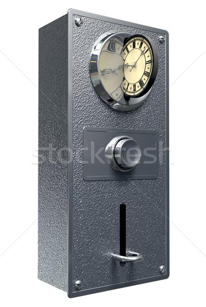 Az idő pénz klasszikus érme rés közelkép fém Stock fotó © albund