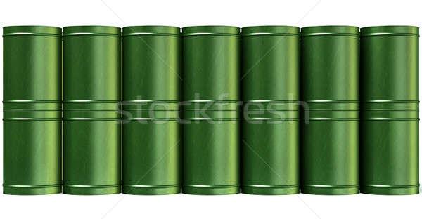 Stok fotoğraf: Yeşil · namlu · Metal · yalıtılmış