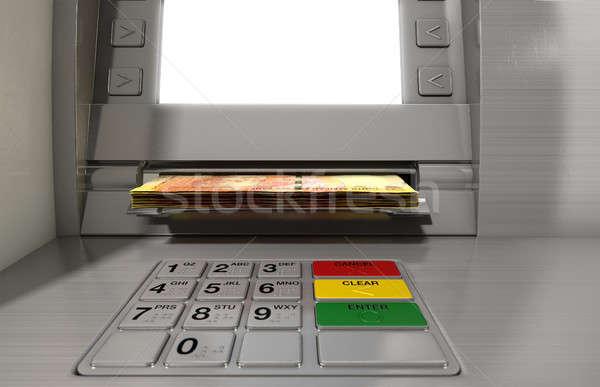 Atm Facade Cash Withdrawel Stock photo © albund