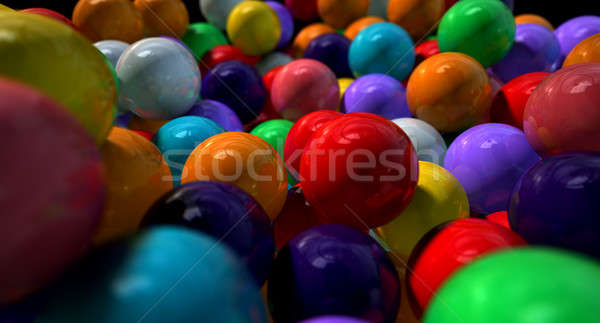 Gumballs Up Close And Personal Stock photo © albund