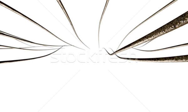 Stockfoto: Microscopisch · haren · 3d · render