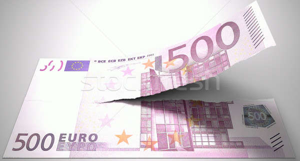 Tearing Euro Note Stock photo © albund