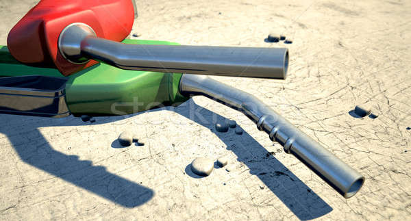 Petrol Nozzles In The Desert Stock photo © albund