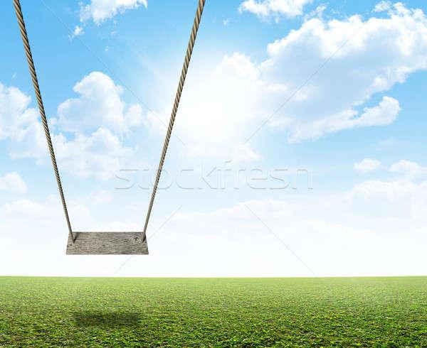 веревку Swing зеленый области регулярный Сток-фото © albund