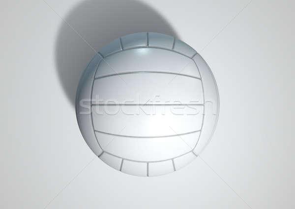 Volleybal geïsoleerd 3d render regelmatig witte studio Stockfoto © albund