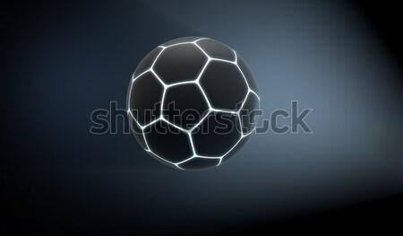 Futuristic Neon Sports Ball Stock photo © albund