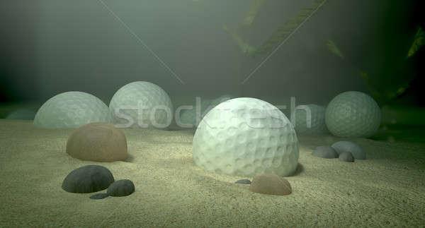 Golf wody hazard podwodne scena Zdjęcia stock © albund
