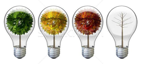 Stylized Tree Light Bulbs Stock photo © albund