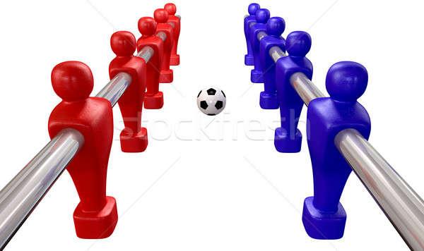 Foosball Kickoff Top Isolated Stock photo © albund