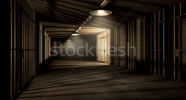 Carcere corridoio carcere notte Foto d'archivio © albund