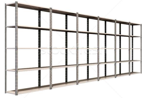 Warehouse Shelves Perspective Stock photo © albund