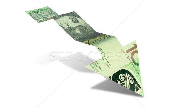 Australijczyk Dolar banku Uwaga tendencja arrow Zdjęcia stock © albund