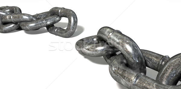 Chain Missing Link Apart Stock photo © albund