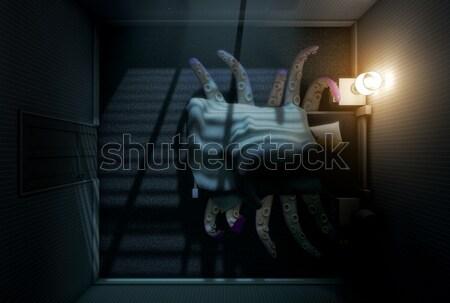 Monstruo cama 3d dormitorio pulpo como Foto stock © albund