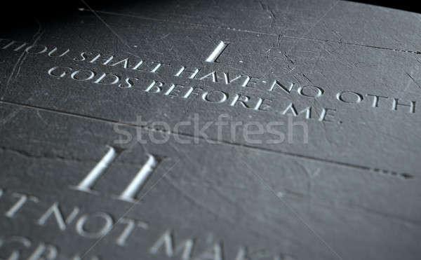 The First Commandment Stock photo © albund