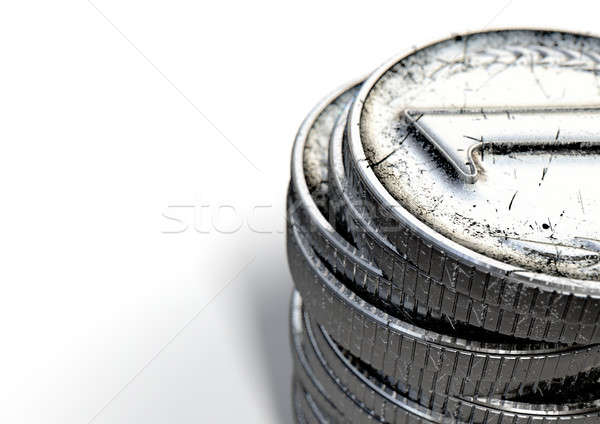 硬幣 第一 古董 銀 商業照片 © albund