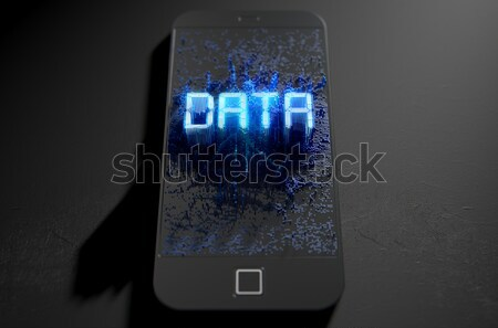 Stockfoto: Gegevens · 3d · render · moderne · algemeen · scherm