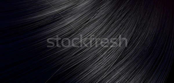 Cabelo preto ver monte brilhante Foto stock © albund