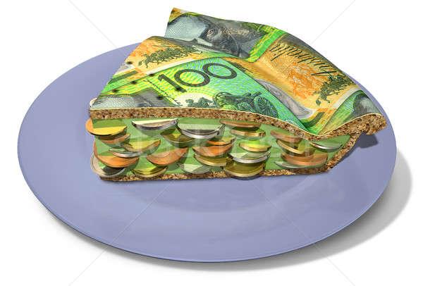Slice Of Australian Dollar Money Pie Stock photo © albund
