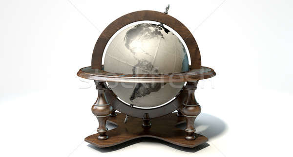 Vintage mundo globo ornamento isolado Foto stock © albund